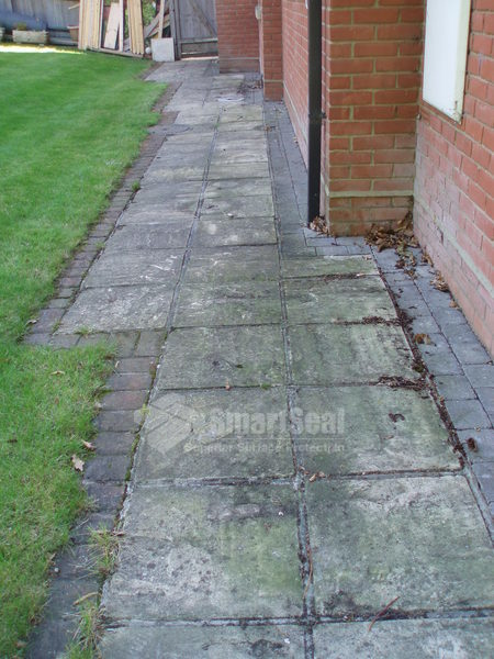 Patio slabs requiring a good clean