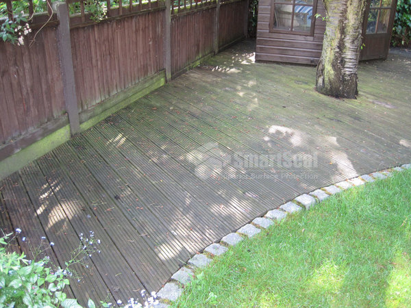 Decking prior to cleaning