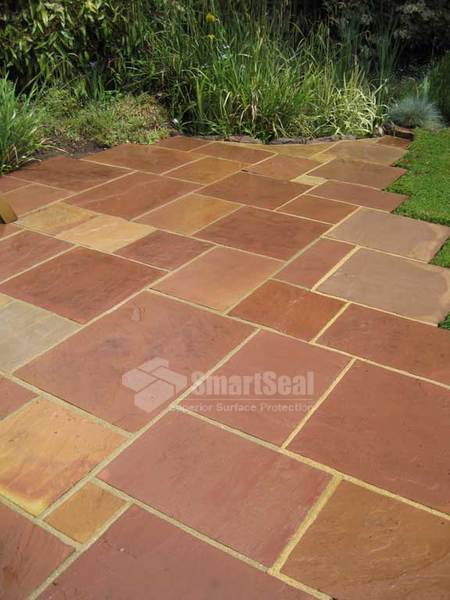 Indian sandstone freshly cleaned