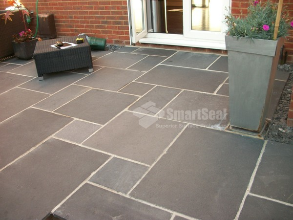 New patio prior to impregnating sealer application
